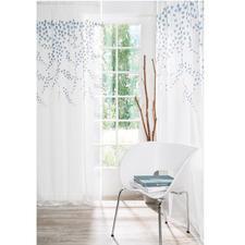 Store/Gardine Fiore - 1 Stück - Spektakulär: Opulenter Blüten-Regen – plastisch aufgestickt statt flach gedruckt.