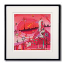 """""""Roter König"""", gerahmt 62 x 62 cm."""