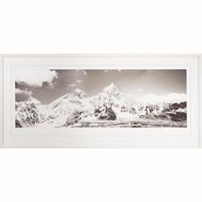 Koshi Takagi – Himalaya - Fotorealistische Bleistiftzeichnung mit über 1 Million handgemalten Strichen. Erste Edition des mehrfach ausgezeichneten jap. Künstlers Koshi Takagi. 30 Exemplare. Masse: gerahmt 140,5 x 65 cm