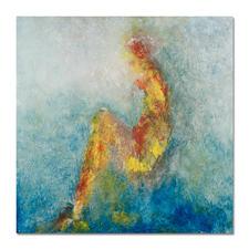 Benno Werth – Die Sitzende - Seit 2011 im Stadtmuseum Riesa – jetzt als handübermalte Edition bei Ihnen zu Hause. Prof. Benno Werth editiert erstmals einen Akt. 20 Exemplare. Exklusiv für Pro-Idee. Masse: 100 x 100 cm