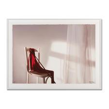 """Edite Grinberga: """"Rot mit Stuhl"""" - Ein typischer Grinberga. Die erste Edition der Künstlerin – exklusiv bei Pro-Idee. 20 Exemplare."""