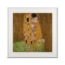 """Gustav Klimt – Der Kuss (1908 / 1909) - Gustav Klimt """"Der Kuss"""" (1908 / 1909) als High-End Prints™. Endlich eine Qualität, die dem grossen Meisterwerk tatsächlich gerecht wird. Masse: gerahmt 81,5 x 81,5 cm"""
