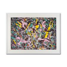 """Jackson Pollock – Unformed Figure (1953) - Jackson Pollock """"Unformed Figure"""" (1953) als High-End Prints™. Endlich eine Qualität, die dem grossen Meisterwerk tatsächlich gerecht wird. Masse: gerahmt 99 x 76 cm"""