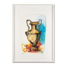"""Markus Lüpertz: """"Vase 1"""" - Keine Lüpertz-Edition ist wie diese. Einer seiner seltenen farbenfrohen Siebdrucke. Gering limitiert mit 40 Exemplaren."""