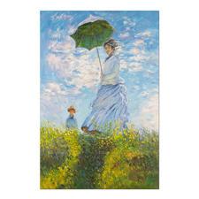 """Zhao Xiaojie malt Monet – Frau mit Sonnenschirm - Zhao Xiaojie """"Frau mit Sonnenschirm"""": Die perfekte Kunstkopie – 100 % von Hand in Öl gemalt. Masse: 88 x 131 cm"""