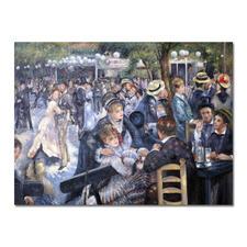 "Zhong Lirong malt Renoir – Bal du Moulin de la Galette - Renoirs ""Bal du Moulin de la Galette"": Die perfekte Kunstkopie – 100 % von Hand in Öl gemalt. Masse: 175 x 131 cm"