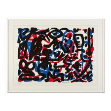 """A. R. Penck – Weiterarbeit - A. R. Penck in den wichtigsten Museen der Welt – und jetzt als limitierter Siebdruck bei Ihnen zu Hause. Die letzten 15 Exemplare der Edition """"Weiterarbeit"""" exklusiv bei Pro-Idee. Masse: 112 x 80,5 cm"""