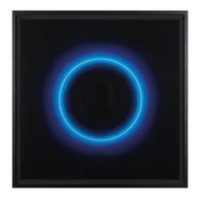 Fabrizius² – Ohne Titel – Kreis Weiss in Blau - Die vierhändige Kunstsensation.  Erste Edition der Zwillingsschwestern Fabrizius. 35 Exemplare. Masse: gerahmt 108,5 x 108,5 cm