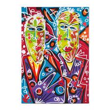 Leon Löwentraut – Brothers - Leon Löwentraut: Investition in ein aussergewöhnliches Talent. Zweite exklusive Pro-Idee Edition des Shootingstars der deutschen Kunstszene. Masse: 70 x 100 cm