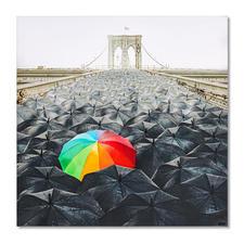 Robert Jahns – Rainbow Umbrella - Robert Jahns:Einer der populärsten Instagram-Stars. 40.000 Likes! Rainbow Umbrella – jetzt als Leinwand-Edition. Exklusiv bei Pro-Idee. Masse: 100 x 100 cm