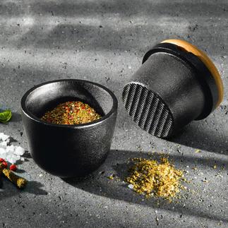 Skeppshult Gusseisen-Mörser Massives Gusseisen zerkleinert Gewürze und Kräuter viel leichter und präziser.