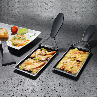 Barbeclette, 2er-Set oder 6er-Set Das Raclette-Pfännchen für den Grill.