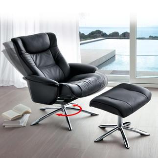 Sitwell Relax-Sessel mit Hocker Entwickelt in Zusammenarbeit mit Orthopäden, Arbeitsmedizinern und Sportwissenschaftlern.