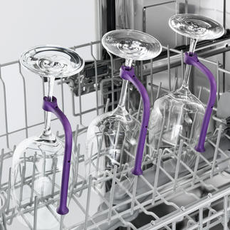 Gläserhalter für Geschirrspüler, 8er-Set Endlich können Sie auch viele langstielige Gläser gefahrlos im Geschirrspüler reinigen.