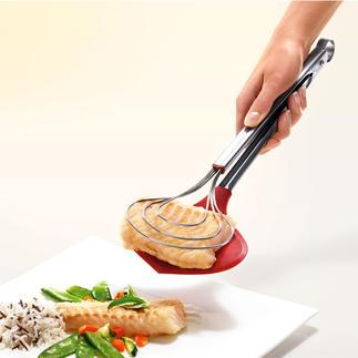 XXL-Kochzange Endlich: die extra breite Küchenzange. Hält selbst empfindlichste Speisen sicher im Griff.
