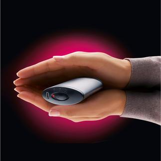 Akku-Handwärmer 5 Stunden Akku-Power (statt meist nur 2). 130 g leicht. Passt bequem in jede Jacken- und Hosentasche.