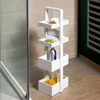 wireworks Design-Regal, Weiss Stummer Diener. Mehrstöckiges Tablett. Und handliche Etagere mit praktischem Stauraum.