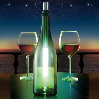 Bottlelight Jetzt wird aus jeder leeren Wein- oder Champagnerflasche ein attraktives Leuchtobjekt.