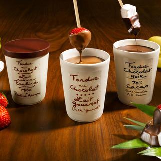 Schokoladenfondue, je Sorte im 2er-Set Überraschen Sie Ihre Gäste mit einem himmlischen Dessert – ohne Aufwand gezaubert.