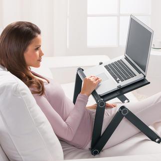 Vario-Laptoptisch Im Bett, auf der Couch, unterwegs, ... Genial variable Gelenkkonstruktion. 1.700 g leicht.
