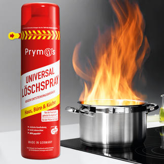 Prymos Löschspray Die neue Generation Feuerlöscher. Schneller, einfacher, sicherer: Löschschaum aus der Spraydose.