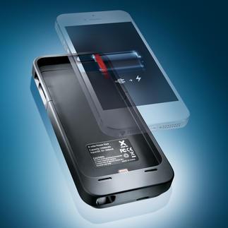 Hochleistungs-Akku-Case für iPhone 5 Für Ihr iPhone 5: das wohl flachste und leichteste Akku-Case auf dem Markt. Mit offizieller Apple®-Lizenz.