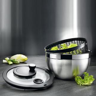 Rösle Edelstahl-Salatschleuder Zum hygienischen Reinigen komplett zerlegbar. Aus unverwüstlichem 18/10-Edelstahl (statt Plastik).