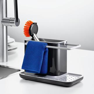 Spülbecken-Organizer Hygienisch. Trocken. Griffbereit. Der stilvolle Platz für Spültuch, Schwamm und Bürste.