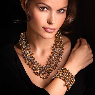 """Langani Kette """"tanzende Perlen"""" oder Spiral-Armreif Die """"tanzenden"""" Perlen von Langani. Berühmt in den 60er-Jahren. Heute Liebhaberstück und Sammlerobjekt."""