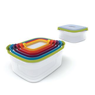 6-in-1 Frischhaltebox 6 Frischhalteboxen auf kleinstem Raum und immer der passende Deckel zur Hand.