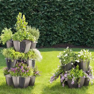 Etagen-Pflanzturm, 5-teilig Opulente Blumenpracht auf kleinem Raum. Prächtiger Pflanzturm. Oder einzelnes Pflanzrondell.