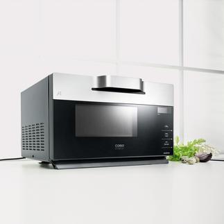 Design-Inverter-Mikrowelle IMG 25 Sanfter Auftauen und Garen. Perfekt auch für Steaks, Koteletts, … & zum Überbacken und Gratinieren.