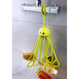 Duschkrake Genialer Ersatz für fehlende Ablagen in der Dusche. 9 Tentakel halten Duschgel, Shampoo, Schwamm, Rasierer, ...