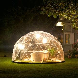 Garteniglu, Basis-Set mit Winterfolie Aufsehen erregendes Kuppel-Design für Ihren Garten. & fürs ganze Jahr. Extrem robust & standfest, dennoch mobil.