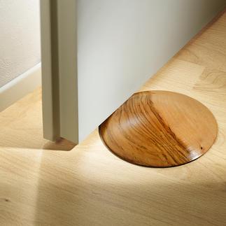 Teakholz-Türstopper Die elegante Lösung, Türen zu fixieren. Geniale Form mit gewölbter Oberfläche. Jeder ein Unikat.