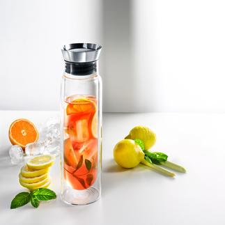 Alfi Doppelwand-Karaffe Hält kühl für Stunden. Und serviert Ihre Getränke mit Stil. Mit Automatik-Verschluss und Rückhaltesieb.