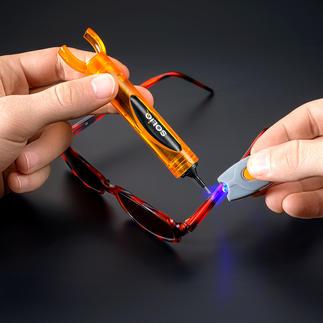 SOLIQ-Set Schnell, einfach, professionell: UV-härtender Flüssig-Kunststoff statt Kleber.