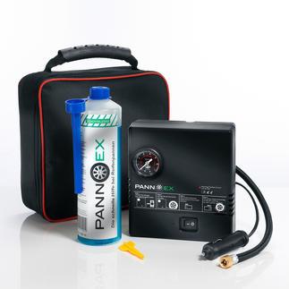 Pannex Reifenpannen-Set, 5-teilig Das innovative Dichtmittel auf Mikrofaser-Basis. Verschliesst Schadstellen bis 8 mm in Minuten.