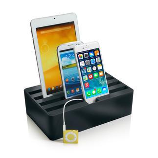 4fach Highspeed-Ladebox Stylisches Highspeed-Ladedock für bis zu 4 Mobilgeräte gleichzeitig.