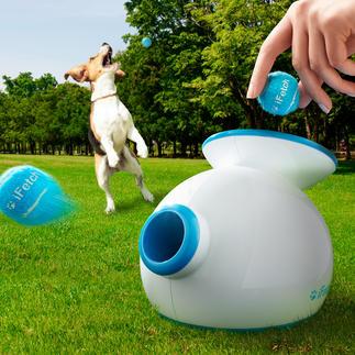 Ballwurfmaschine iFetch Für drinnen und draussen: trainiert und bespielt Ihren Hund nimmermüde. Und gibt Ihnen erholsam frei.