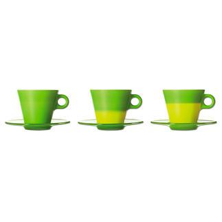 Magische Latte Macchiato Becher oder Magische Cappuccino Tassen Beim Einschenken von Heissem verändern diese Tassen ihre Farbe. Ausgezeichnet mit zahlreichen Designpreisen.