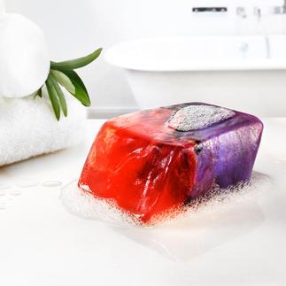 """SoapRocks® """"Feueropal"""" Ausgefallener Blickfang für Bad und Gäste-WC: luxuriöse Seife in Edelstein-Optik."""