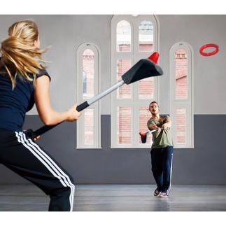 You.Fo® Sportspiel, Set Das trendige Outdoor-Sportspiel You.Fo® kombiniert Tennis und Lacrosse.