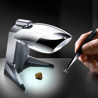 LED-Standlupe Scribolux Leistungsstarke Präzisions-Lupe mit weitem Sehfeld und gestochen scharfem Bild.