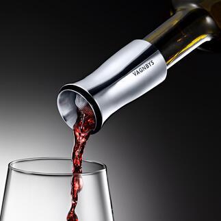 Wein Dekantierer Vagnbys Belüftet Ihren Wein optimal – Glas für Glas. Mit tropffreiem 360°-Ausgiesser, Filtersieb und luftdichtem Stopfen.