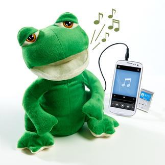 """Frosch-Lautsprecher """"Freddy"""" Ihr wohl kuscheligster Lautsprecher. Und zugleich Sänger, Tänzer, Entertainer."""