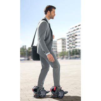 RocketSkates Rollschuhe - aber elektrisch. Genial cooler Fahrspass - mit bis zu 19 km/h Spitzengeschwindigkeit.