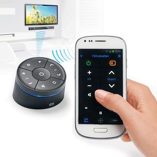 Smart Zapper Genial praktisch: alle Multimedia-Geräte mit dem Smartphone oder Tablet bedienen.