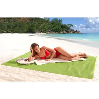 Sandfrei-Strandmatte Schluss mit lästigem Sand auf Ihrer Strandmatte. US-patentiert. Gross genug für 2 Personen.