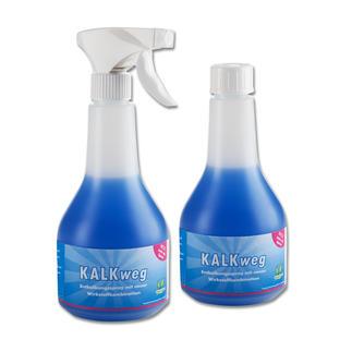 Kalk weg, 2er-Set Der bessere Badreiniger: haftet länger an Duschwänden, Becken, Armaturen. Löst Kalk und Schmutz fast von allein.